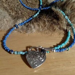 Vintage bead convertible necklace bracelet